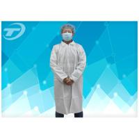 China OEM Protective Disposable Lab coat , white , blue and red color , CE certificated on sale