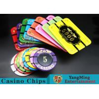 Best Crystal Acrylic Tiger Image Casino Poker Chips Round 40 / 45 / 50mm wholesale