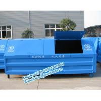 Best Full sealed 7500 liters low price of metal hook lift bins for sale size and color can be customerized wholesale