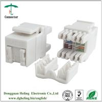 China cat 5e Keystone Jack White RJ45 Network Ethernet connector with dust cover on sale