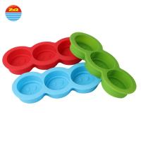 Best Easy release smiley face shaped non plastic large wholesale make your own custom personalized silicone ice cube tray mold wholesale