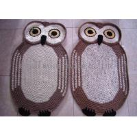 Best Home Decoration Crochet Oval Rag Rug Anti - Slip Crochet Owl Rug 85cm x 55cm wholesale