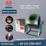 Best Cheap price Gold silver copper iron alumum steel ingot 15kw induction melting furnace portable melting furnace wholesale
