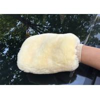 Best Genuine Sheepskin Car Wash Mitt Double Side Wool Wash Mitten for Car Detailing wholesale