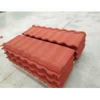 Best Colored Stone Coated Roofing Tiles 1340*420mm Terracotta Bond For Africa Market wholesale