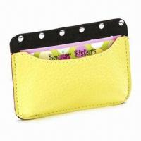 Best Card Holder, Made of Genuine Leather, Measures 11 x 7.5cm, Various Colors are Available wholesale