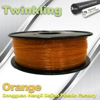 Best MSDS Twinkling Orange 3D Printer Filament 1.75mm Filament For 3d Printer wholesale