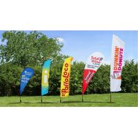 Best Outside Flying Advertising Feather Flags Banner With Aluminum Pole Double Sided wholesale
