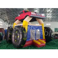 China 5 * 4 M Colorful Car Inflatable Jumping Castle And Commercial  Bouncy Castle on sale