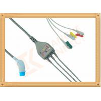 Buy cheap 8 Pin Nihon Kohden Ecg Cable / 3 Lead Ecg Cable Grabber IEC from wholesalers
