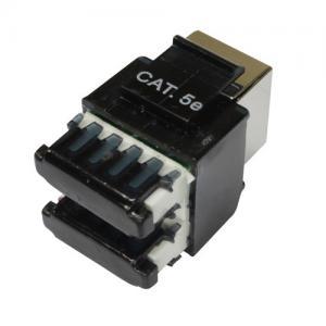 Best FTP Cat5e T568A T568B wiring RJ45 black modular jacks , Rj45 Keystone Jack wholesale