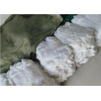 Best Genuine Jackets Rabbit Fur For Winter Throw , 22*30cm White Rabbit Fur Pelts  wholesale