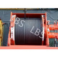 Best Lebus Groove Offshore Tower Crane Winch Drum / Hydraulic Crane Winch wholesale