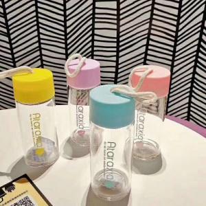 Best 500ml Glass Watter Bottle , Glass Drinking Bottle For Summer / Drinking Sets wholesale
