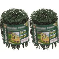 Quality Decorative 0.65M / 10M Garden Border Wire Fencing Mesh Roll With Hooped Top wholesale