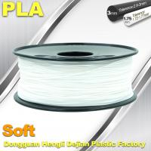 Best Soft PLA 3D Printer filament., 1.75 / 3.0mm, White Color wholesale