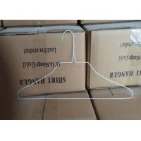 Best White Coated 2.0mm Metal Wire Shirt Hangers , 500 Pcs / Carton Packing wholesale