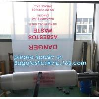 Heavy Duty Custom LDPE Poly plastic waste bags for construction, Disposal