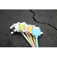 Best Colorful 3 in 1 Universal Cell Phone USB Cable 30 Pin For IPhone 4 Charging wholesale