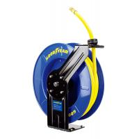 China Goodyear Steel Spring Driven Low Pressure air water retractable hose reel 20m hose on sale