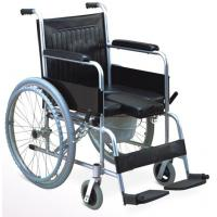 China Foldable Aluminum Frame Soft Seat Medical Bedside Commode Chair on sale