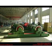 Best 5 Ton Bolt Adjustable Steel Tank Welding Pipe Roller Rotator , Cylinder  Turning Roll Machine wholesale
