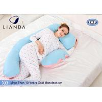 Best U Shape Maternity Body Pillow , Memory Foam Pregnancy Pillow Polyester / Cotton Fabric wholesale