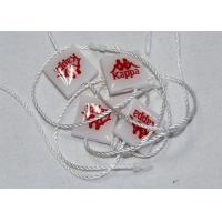 Garment Security Plastic Seal Tag , Hang Tag Plastic String Epoxy Surface Finishing
