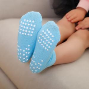 Best Fashionable Knitting Slip Resistant Socks  , Jacquard Logo Non Slip Dance Socks wholesale