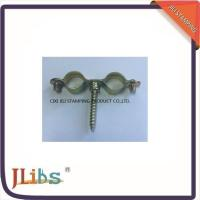 Best 10mm-30mm Galvanized Pipe Clamps Double M7 Without Rubber  Yellow Zinc Galvanize wholesale