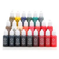 Best 23 Colors 1 / 2 OZ Cosmetic Ink Permanent Makeup Pigments Lasting Long wholesale