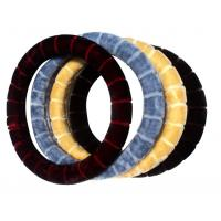 China hot model fur material car steering wheel cover on sale
