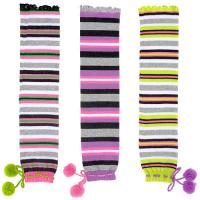 Best Individual Comfortable Colorful Striped Knitted Leg Warmers Free Pattern For Gilrs wholesale