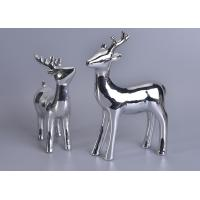 Best Silver Mercury Animal Ceramic Mantle Shelf Table Centerpiece Deer Decor wholesale