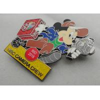 Best NBC Camera Crew Disney Pin Badge by Zinc Alloy, Synthetic Enamel, Black Nickel, Glitter Filled wholesale