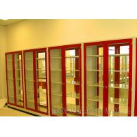 Best Red Color Chemical Storage Cabinets Steel Material With Knock Down Structure wholesale