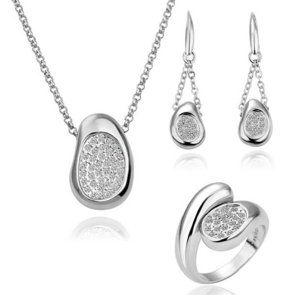 New style Beautiful lavender wedding jewelry set