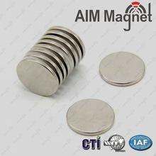 Disc magnet neodymium D16x1.6mm Nickel coating/permanent magnet