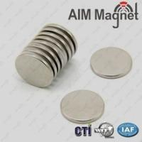 Buy cheap N52/Coating Ni/Sintered Ndfeb Disc Magnet With 25 mm,Height 5 mm from wholesalers