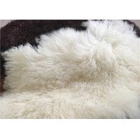 Best Long Hair Natural curly sheep wool Mongolian white fur Materiral for bed throw wholesale