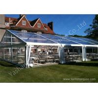 Quality 15M By 25m Clear Fabric Top Outdoor Party Tents With Aluminum Main Profile wholesale