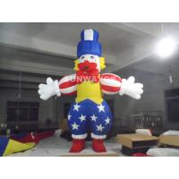 Funny Clown Advertising Inflatable Mascot Costumes For Exhibition Show