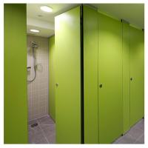 Best hpl board bathroom set  shower cubicle standard size for restaurant wholesale