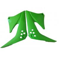 Best Green Color Motorcycle Fuel Tank Protector Guard Solid Material Fit Kawasaki KLX125 wholesale