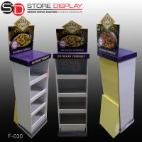 China POS FSDU Advertising cardboard floor display stand for pizza food on sale