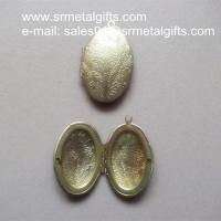 Buy cheap Oval brass photo locket jewelry accessory, ready mold H65 brass picture lockets from wholesalers