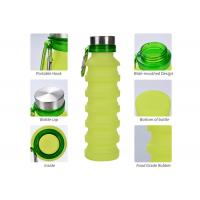 Best Collapsible Water Bottle, Silicone Foldable with Leak Proof Valve BPA Free, 550 ml wholesale