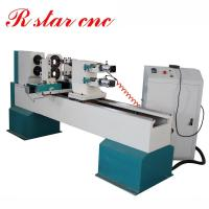 China Double axis CNC Wood turning lathe machine for baseball bat price on sale