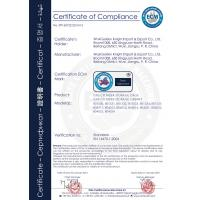 Wuxi Golden Knight Import&Export Co., Ltd. Certifications