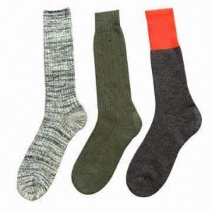 Best White/Gray/Black/Navy Wool Army/Soldier Socks wholesale